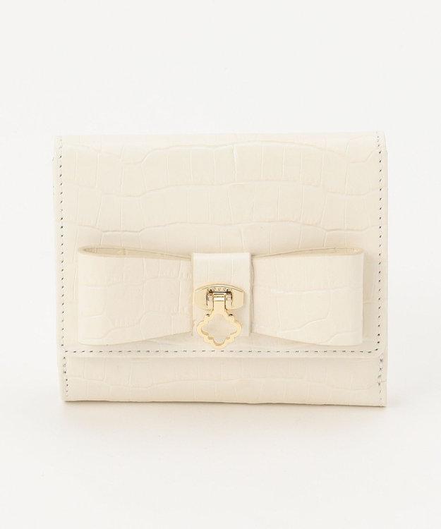 TOCCA 【BAG COLLECTION】CROC RIBBON SMALL PURSE 財布
