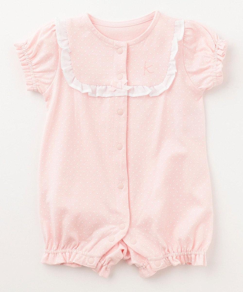 組曲 KIDS 【70cm】ドットプリント ロンパース ピンク系5