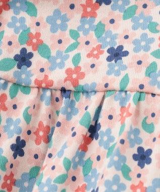 組曲 KIDS 【70cm】フラワープリント ロンパース ピンク系