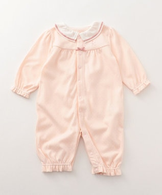 組曲 KIDS 【BABY】40/-スムースドット ロンパース ピンク系5