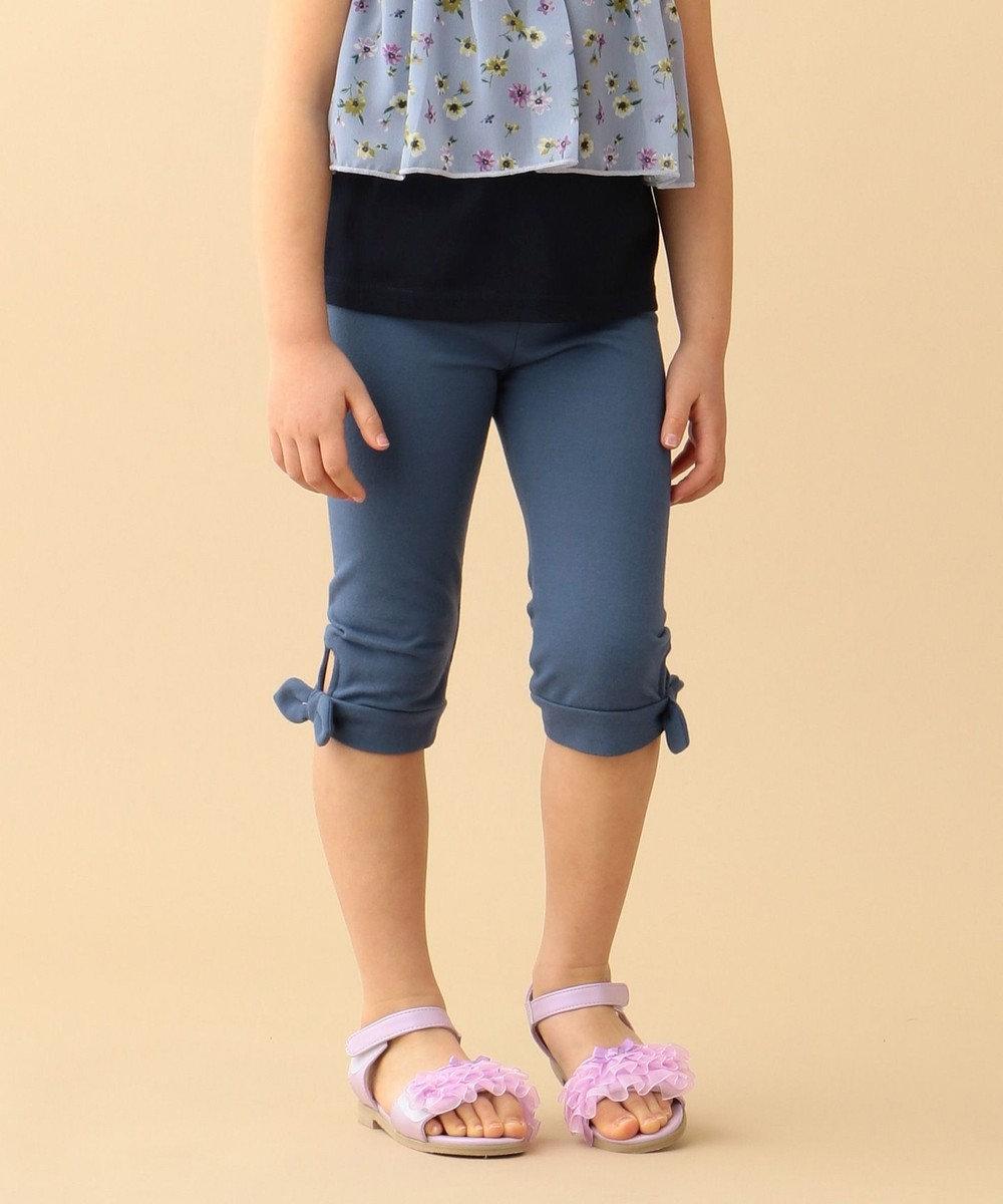 any FAM KIDS 【80-130cm】裾結びリボン クロップド丈パンツ ブルー系