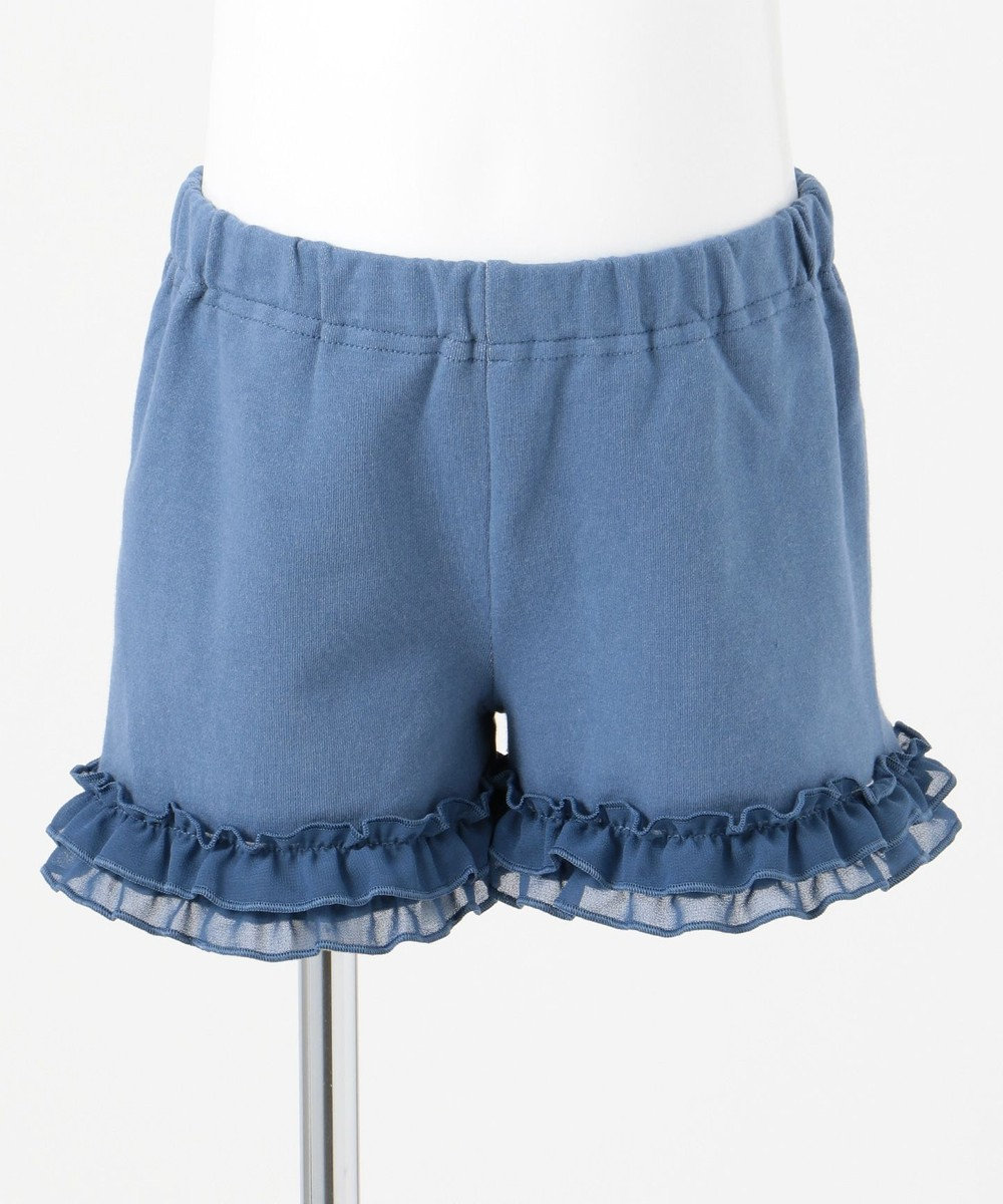 any FAM KIDS 【80-120cm】総柄プリント 1分丈レギンス ブルー系