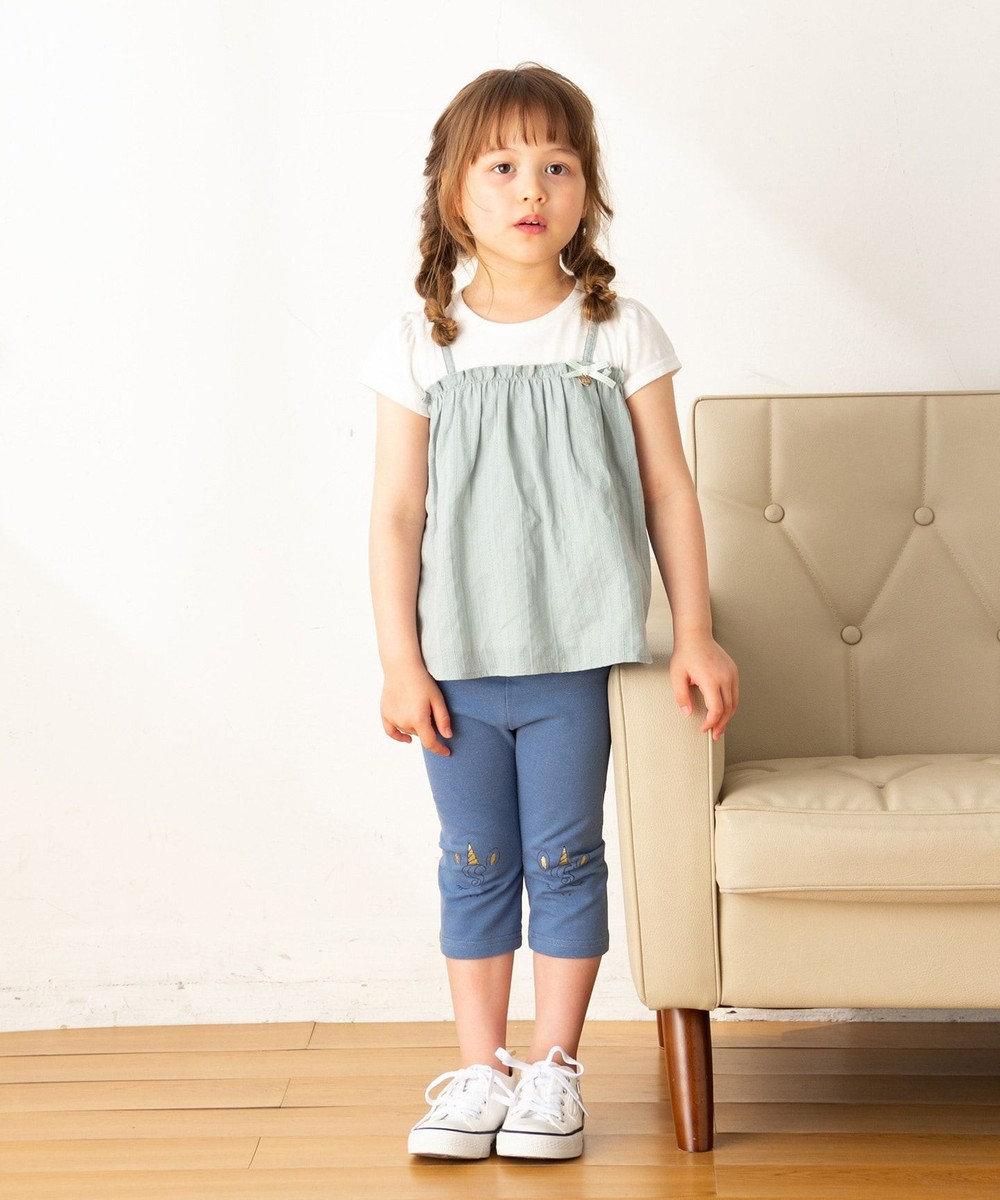 any FAM KIDS 【80-120cm】フルーツ/アニマル 7分丈レギンス ブルー系
