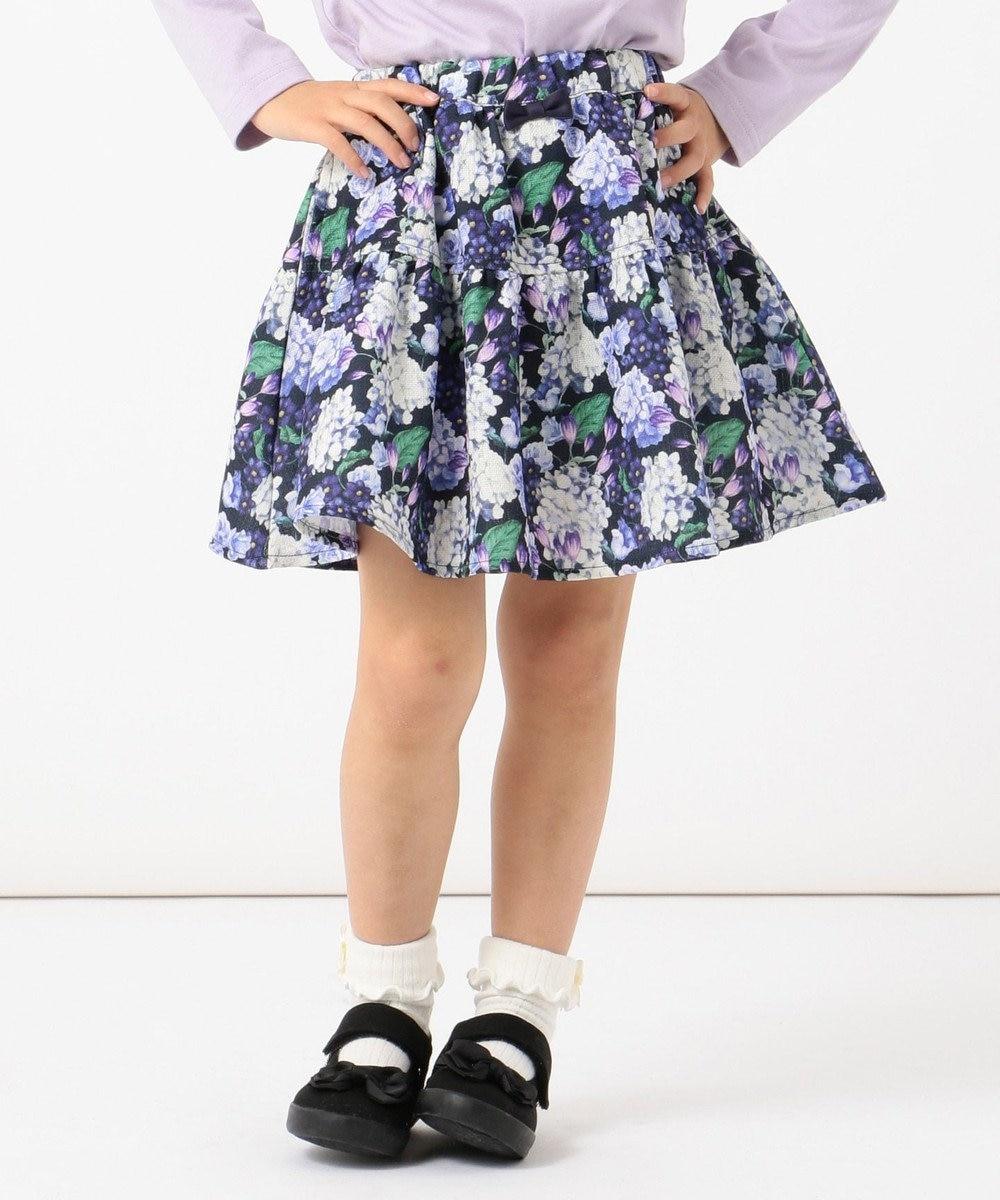 any FAM KIDS 【100-130cm】花柄スカート ネイビー系5