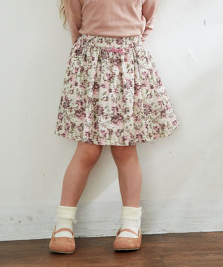 any FAM KIDS 【100‐130cm】花柄スカパン アイボリー系5