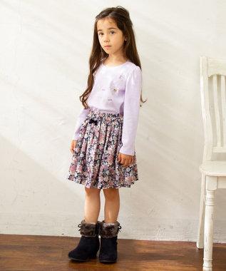 any FAM KIDS 【100‐130cm】花柄スカパン ネイビー系5