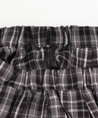 any FAM KIDS 【140-150cm】チェック キュロットパンツ ブラック系3