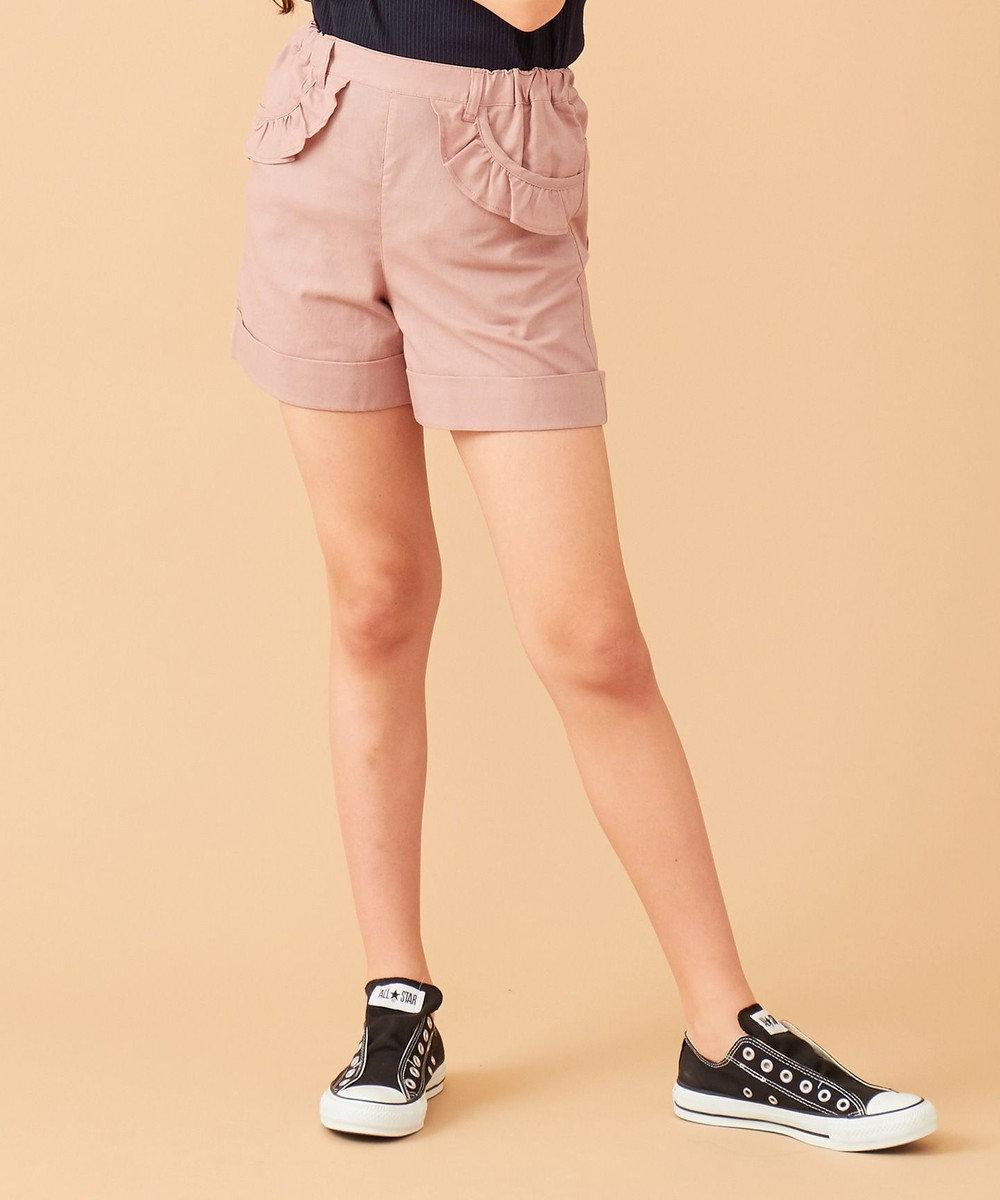 any FAM KIDS 【140-150cm】綿麻ショートパンツ ピンク系