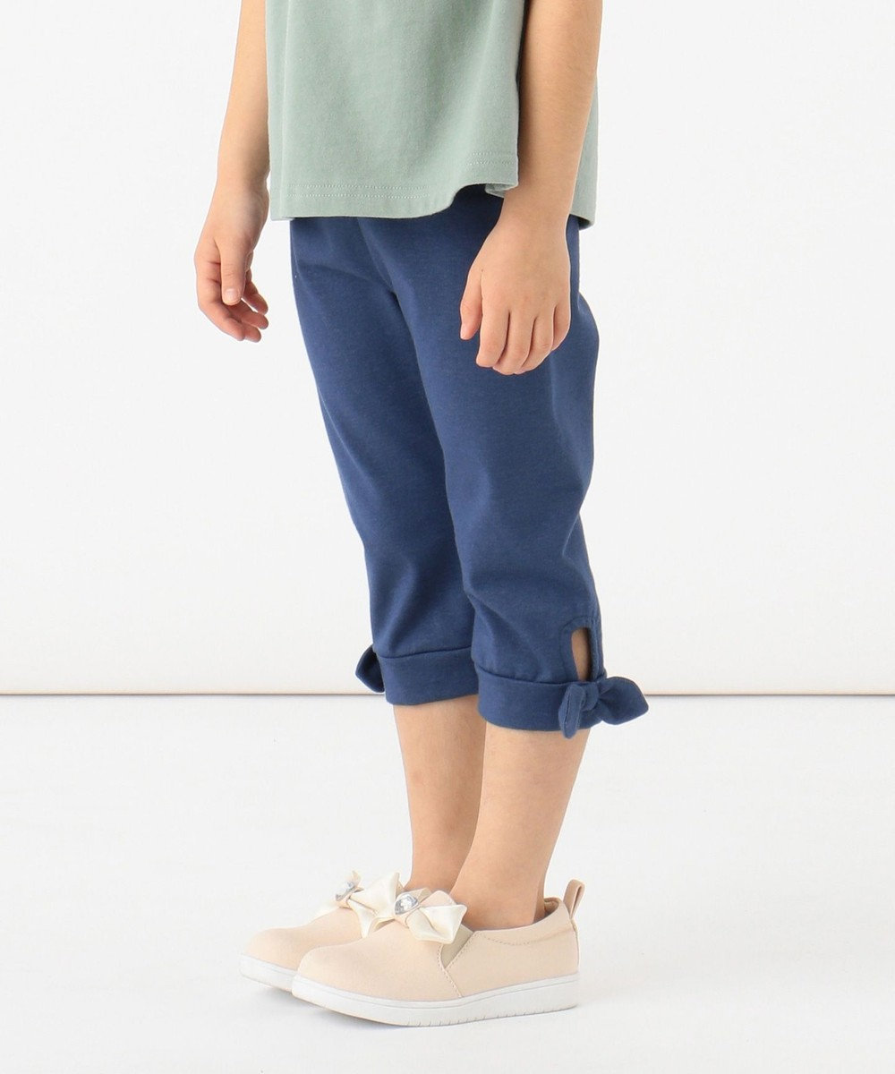 any FAM KIDS 【140-150cm】裾結びリボン クロップド丈パンツ ブルー系