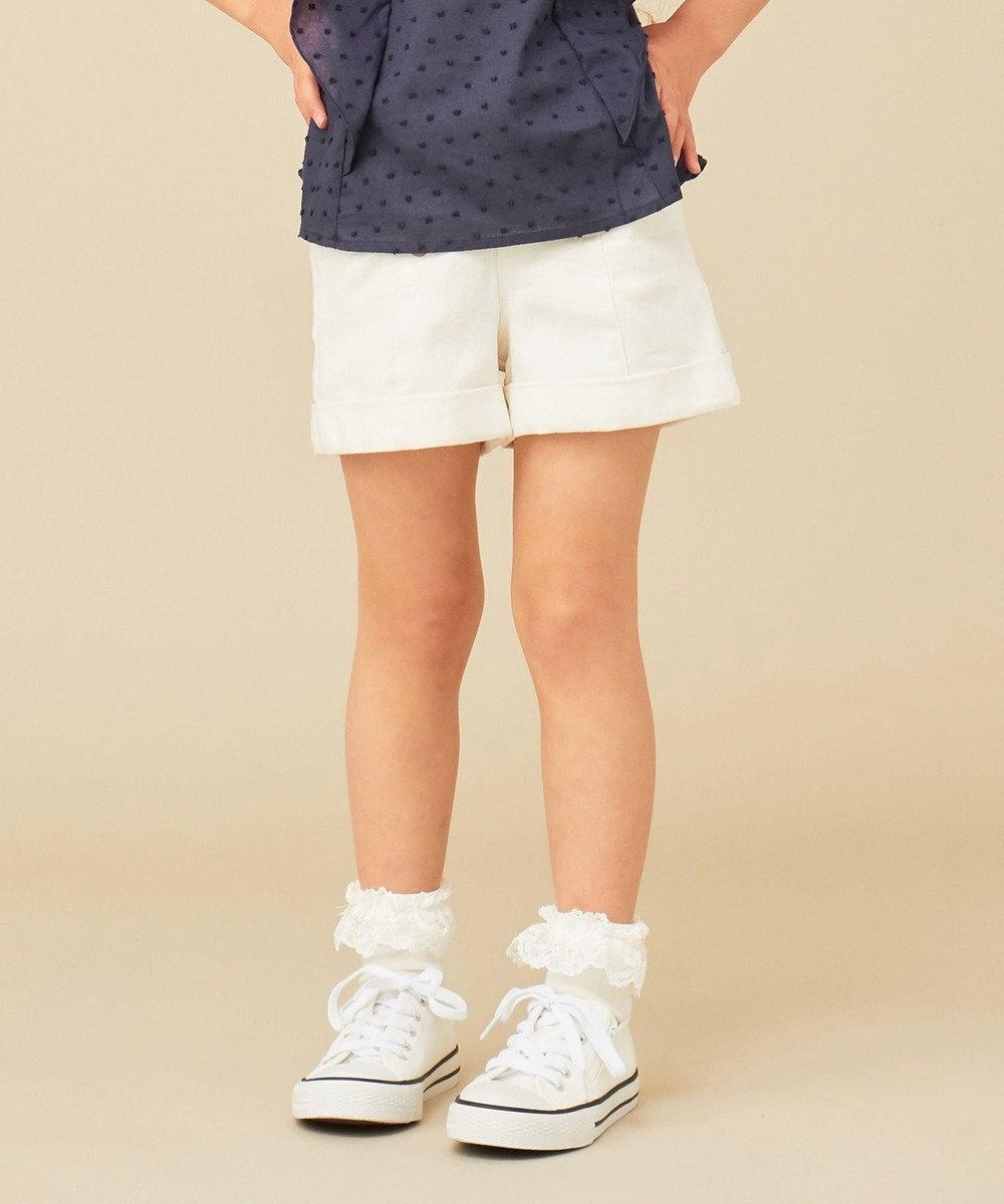 any FAM KIDS 【140-150cm】ストレッチデニム ショートパンツ ホワイト系