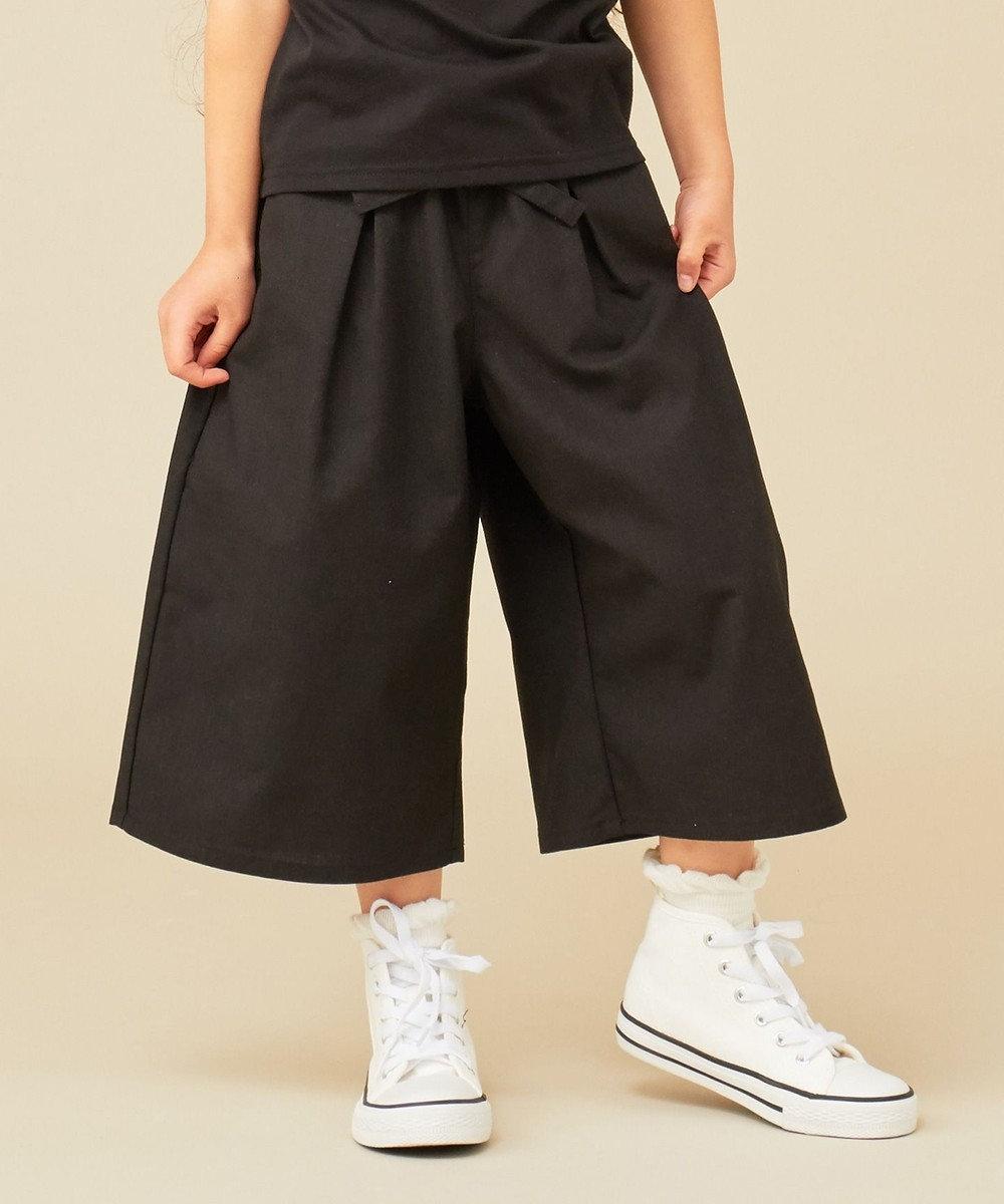 any FAM KIDS 【Lサイズ】綿麻 ワイドパンツ ブラック系
