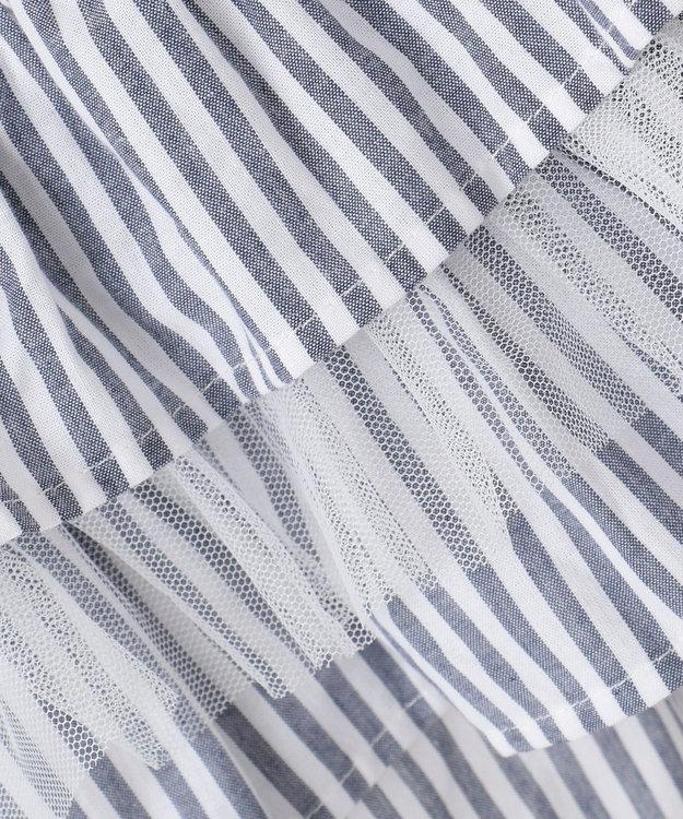 any FAM KIDS 【140-150cm】ストライプ×チュール ショートパンツ