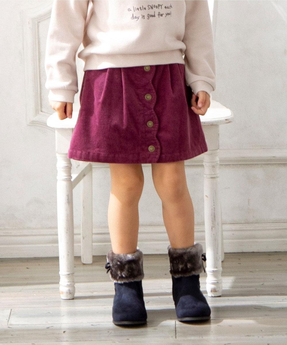 any FAM KIDS 【140-150cm】コーデュロイ キュロットパンツ ピンク系