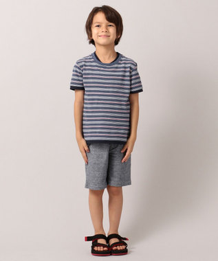 J.PRESS KIDS 【110-130cm】プリント&パイル ハーフパンツ ブルー系