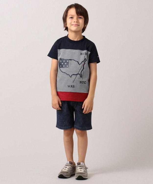 J.PRESS KIDS 【110-130cm】プリント&パイル ハーフパンツ