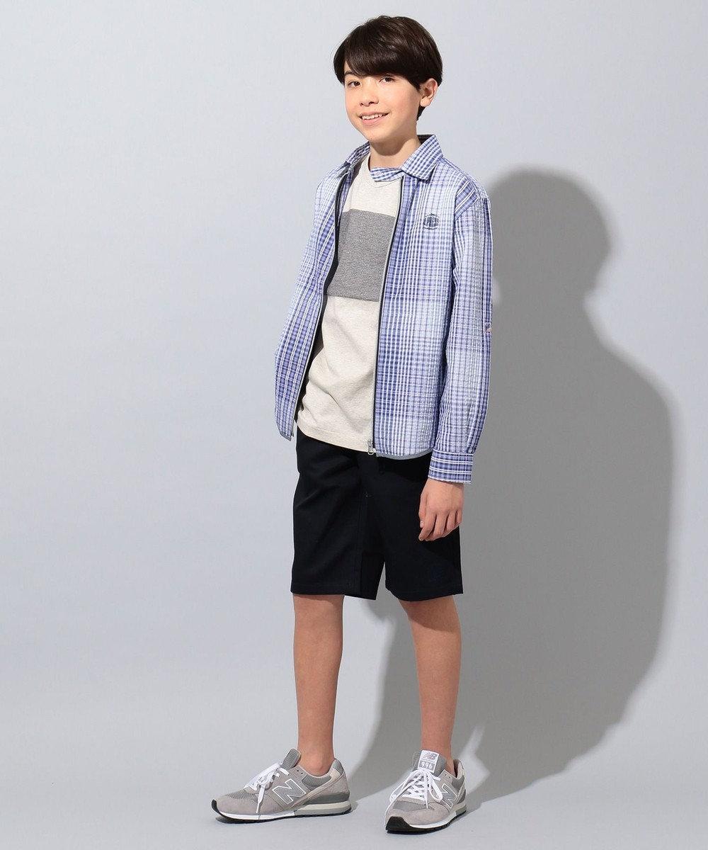 J.PRESS KIDS 【140-170cm】20/16ツイル ハーフ  パンツ ネイビー系