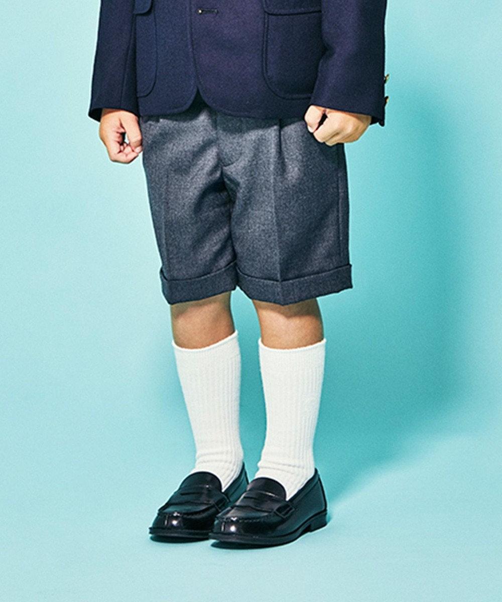 J.PRESS KIDS 【110-130cm】ウールサージ ハーフパンツ グレー系