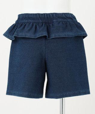 組曲 KIDS 【接触冷感/110-140cm】しろくまデニムパンツ ブルー系