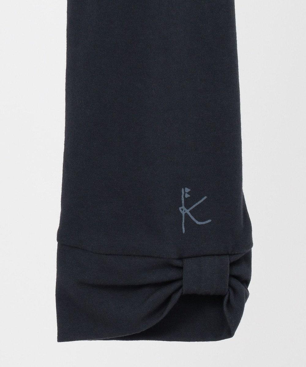 組曲 KIDS 【150-160cm】7分丈リボン スパッツ ネイビー系