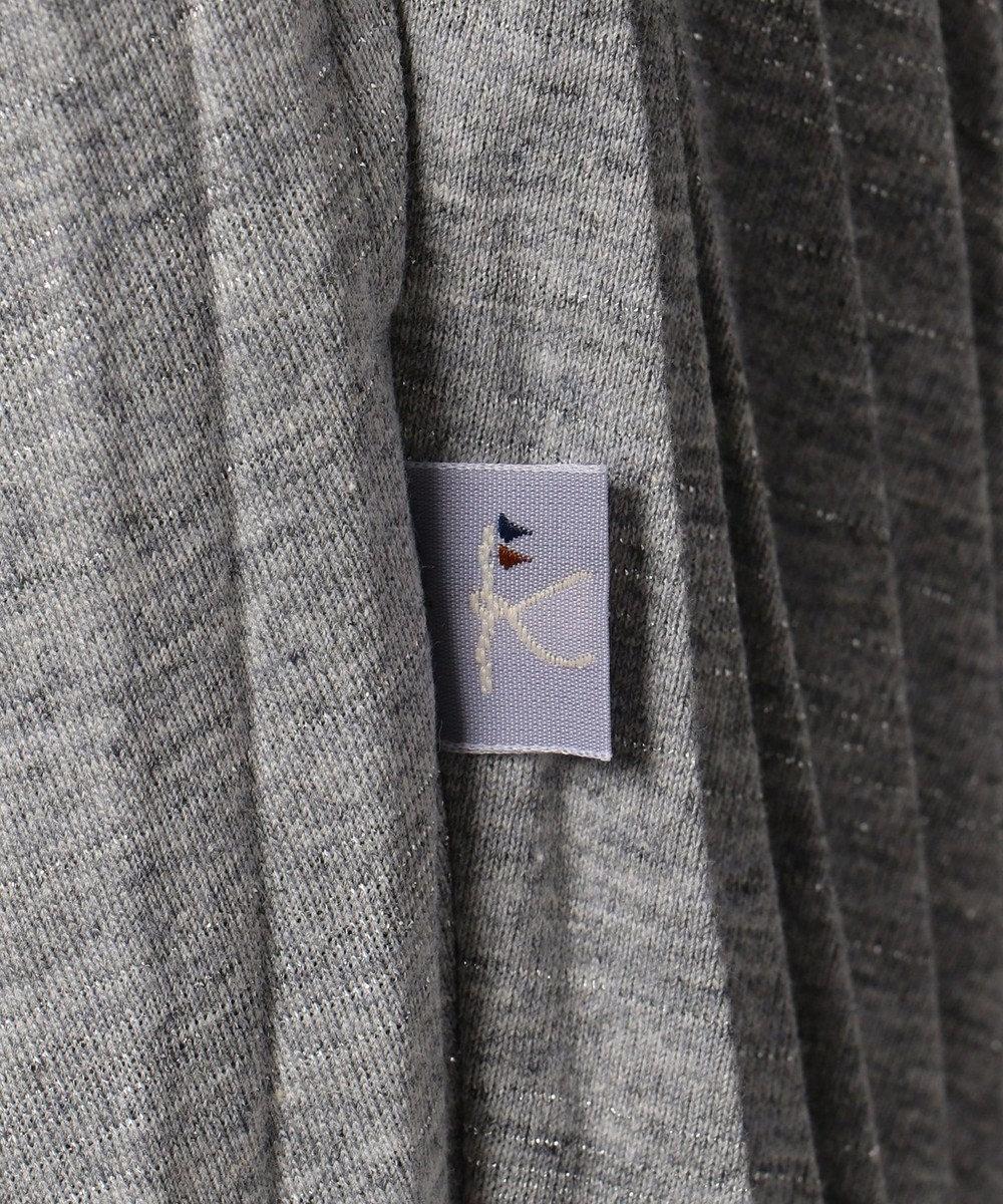 組曲 KIDS 【SCHOOL】T/Cラメプリーツ スカート (インパンツ付き) グレー系