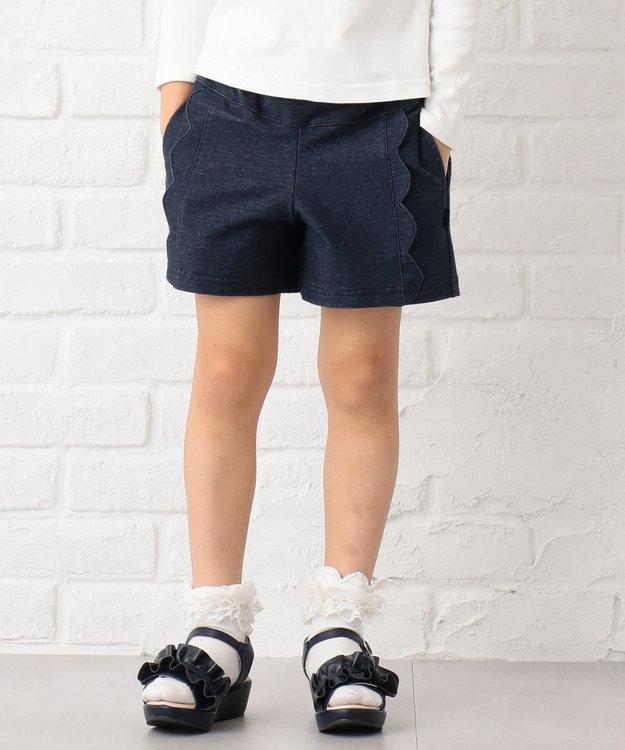組曲 KIDS 【150~170cm】スカラップショートパンツ