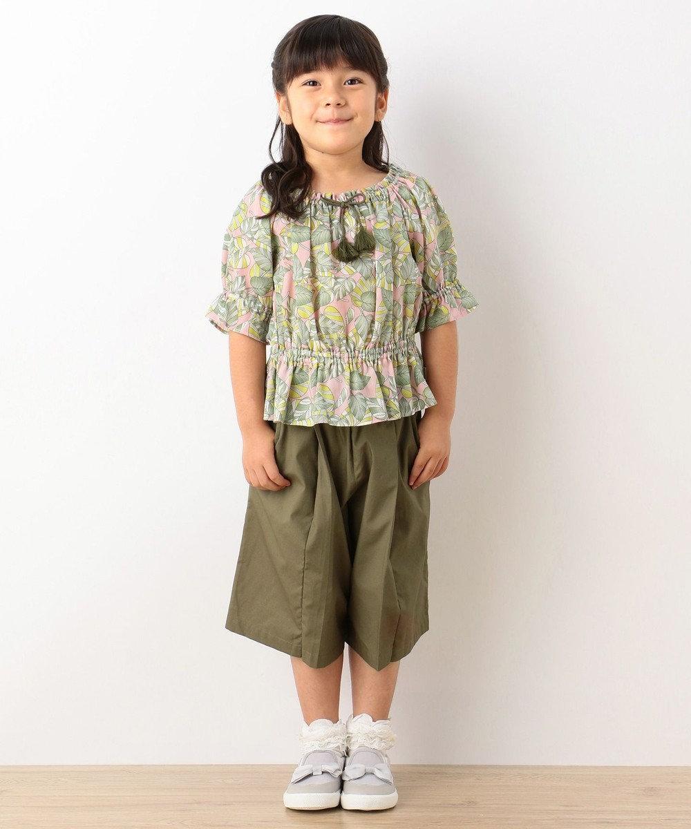 組曲 KIDS 【SCHOOL】リップストップコットン カーキ系
