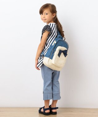 組曲 KIDS 【SCHOOL】ストレッチラチネ サイドプリーツ パンツ パープル系