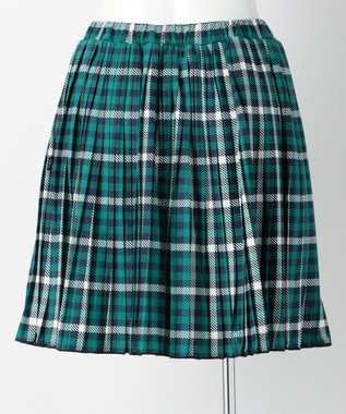組曲 KIDS 【SCHOOL】30/天竺 チェックPT スカート (インパンツ付き) グリーン系4