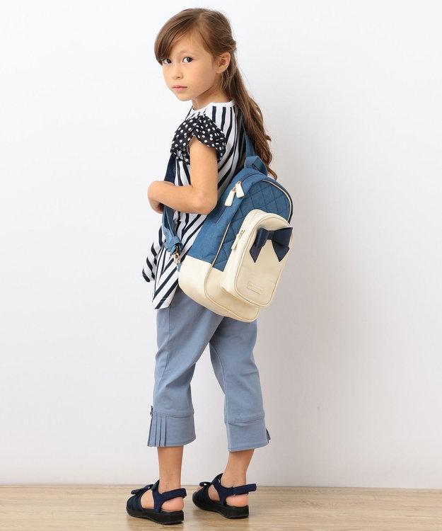 組曲 KIDS 【TODDLER】ストレッチラチネ サイドプリーツ パンツ