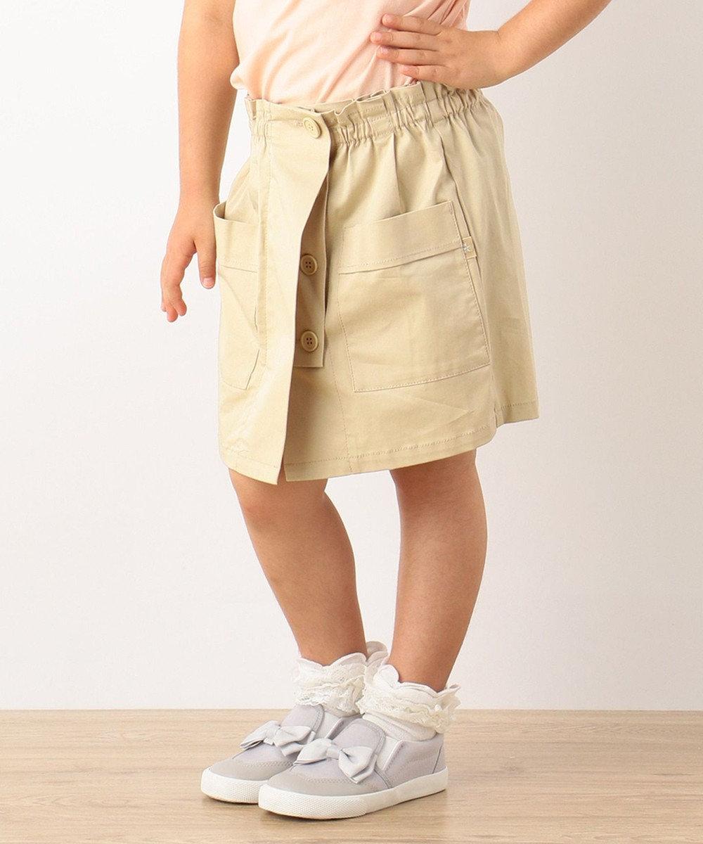 組曲 KIDS 【TODDLER】ルディックツイル キュロット ベージュ系