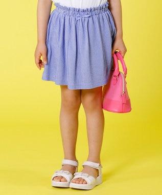 組曲 KIDS 【TODDLER】ピケストライプ キュロット ブルー系