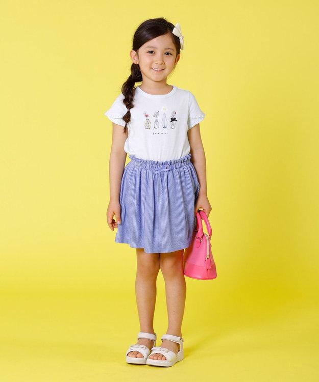 組曲 KIDS 【TODDLER】ピケストライプ キュロット