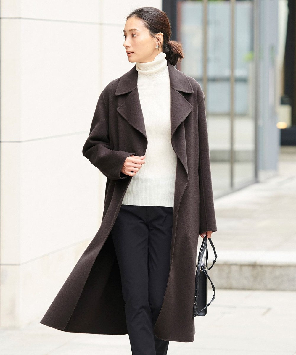 ICB 【マガジン掲載】WoolRever ベルテッドコート(番号CJ25) グレー系