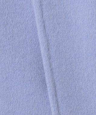 ICB 【mi-mollet掲載】Wool Rever ノーカラーコート サックスブルー系