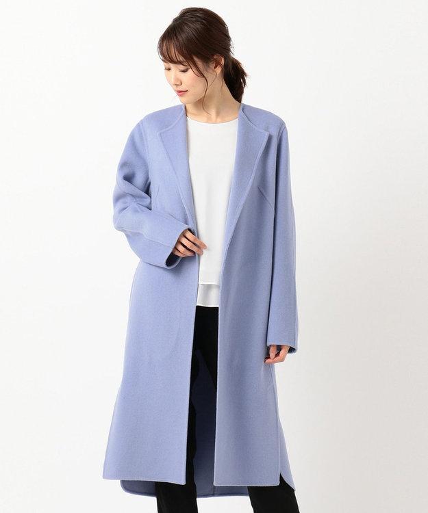 ICB 【mi-mollet掲載】Wool Rever ノーカラーコート