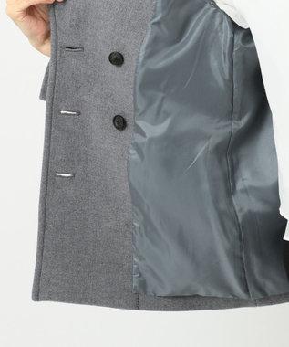 J.PRESS LADIES スーパー100S二重織メルトン Pコート ライトグレー系