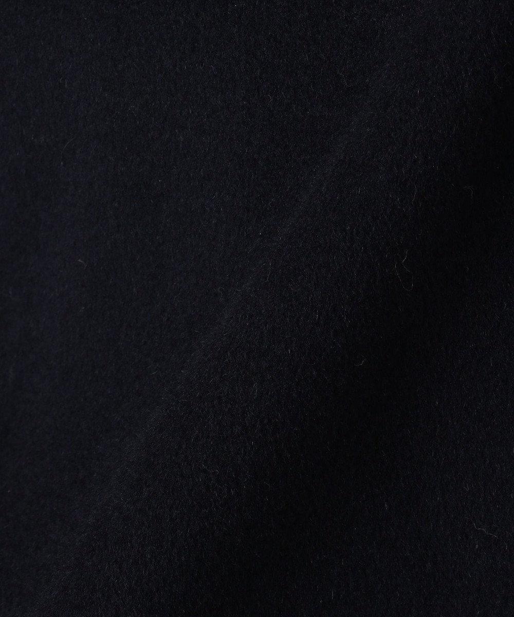 J.PRESS LADIES S 【取り外せるベルト付】アンゴラビーバー フード付きコート ネイビー系