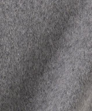 J.PRESS LADIES S 【取り外せるベルト付】アンゴラビーバー フード付きコート グレー系