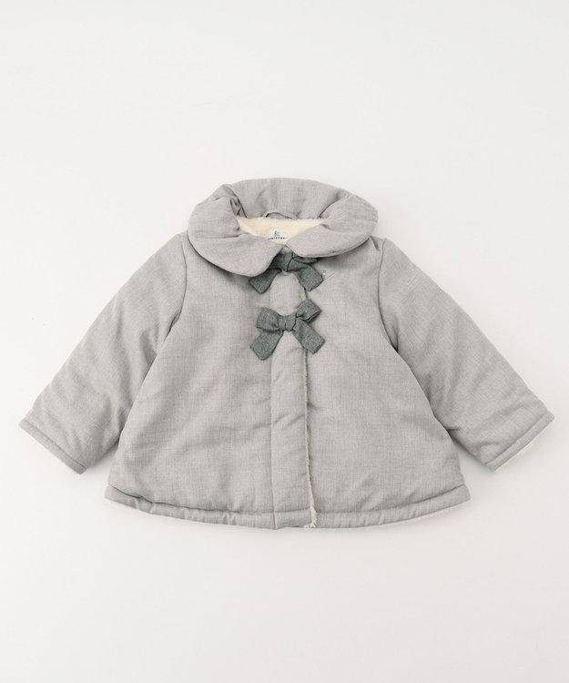 組曲 KIDS 【BABY】ウールライク中わた×ボア コート (90~100cm展開)