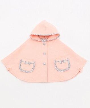 組曲 KIDS 【BABY】プチフラワー接結キルト マント ピンク系