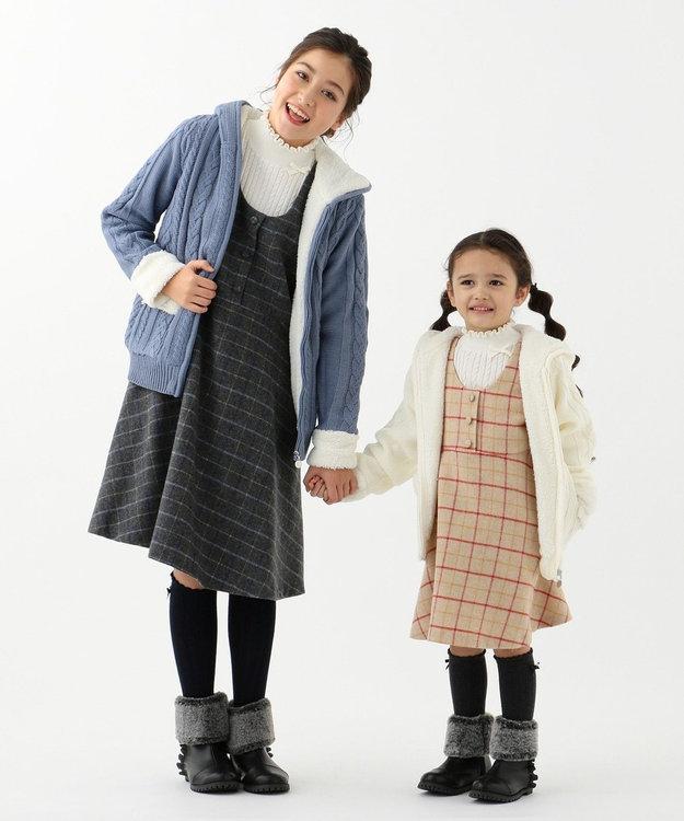 組曲 KIDS 【150-170cm】アラン柄ニット アウター