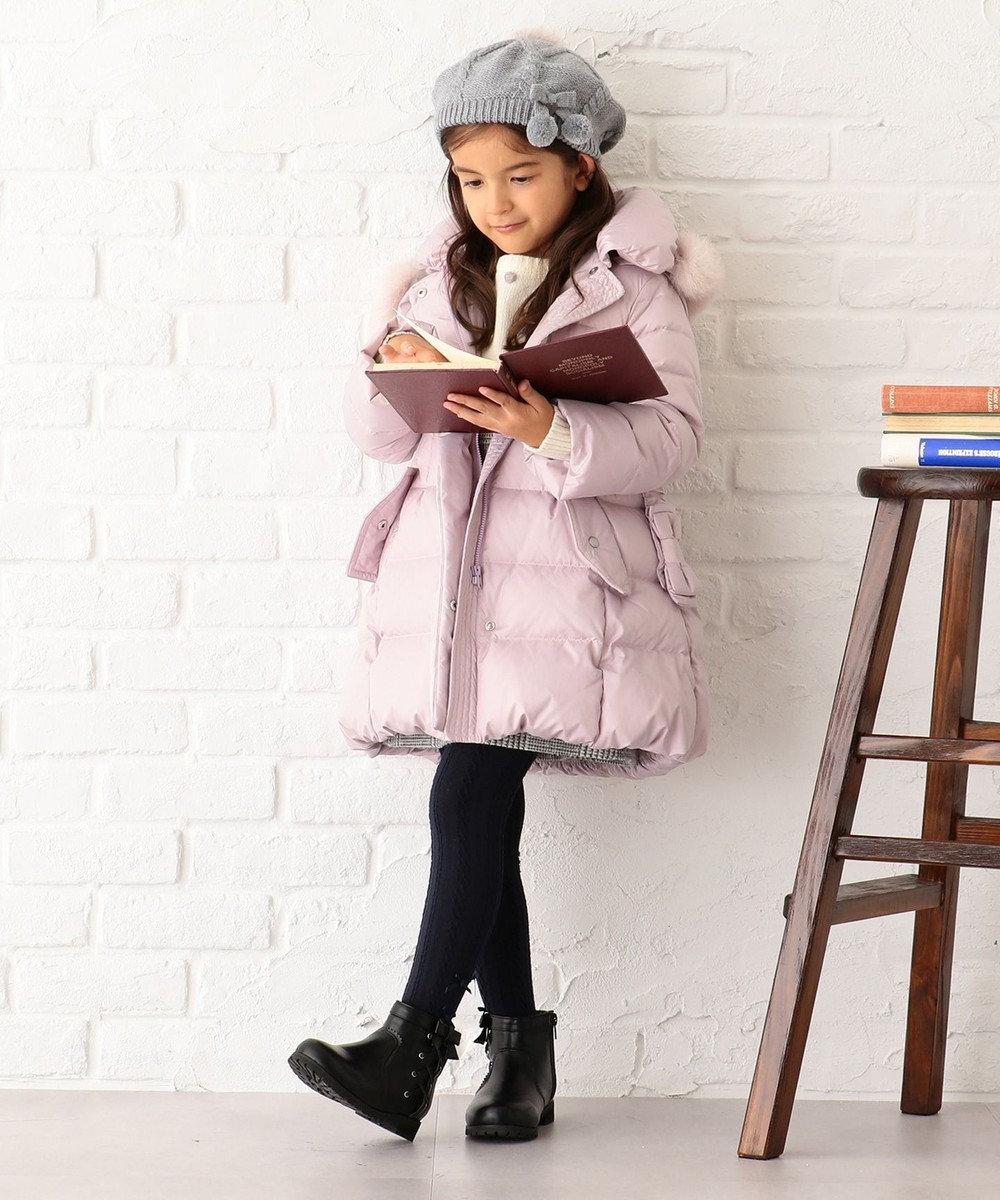 組曲 KIDS 【110~140cm】タフタロングダウン コート ピンク系