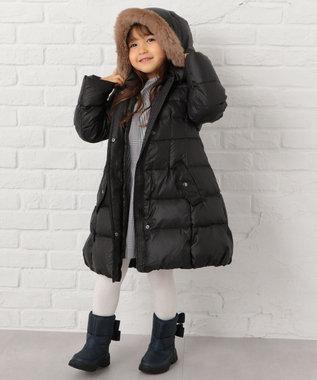 組曲 KIDS 【110~140cm】タフタロングダウン コート ブラック系