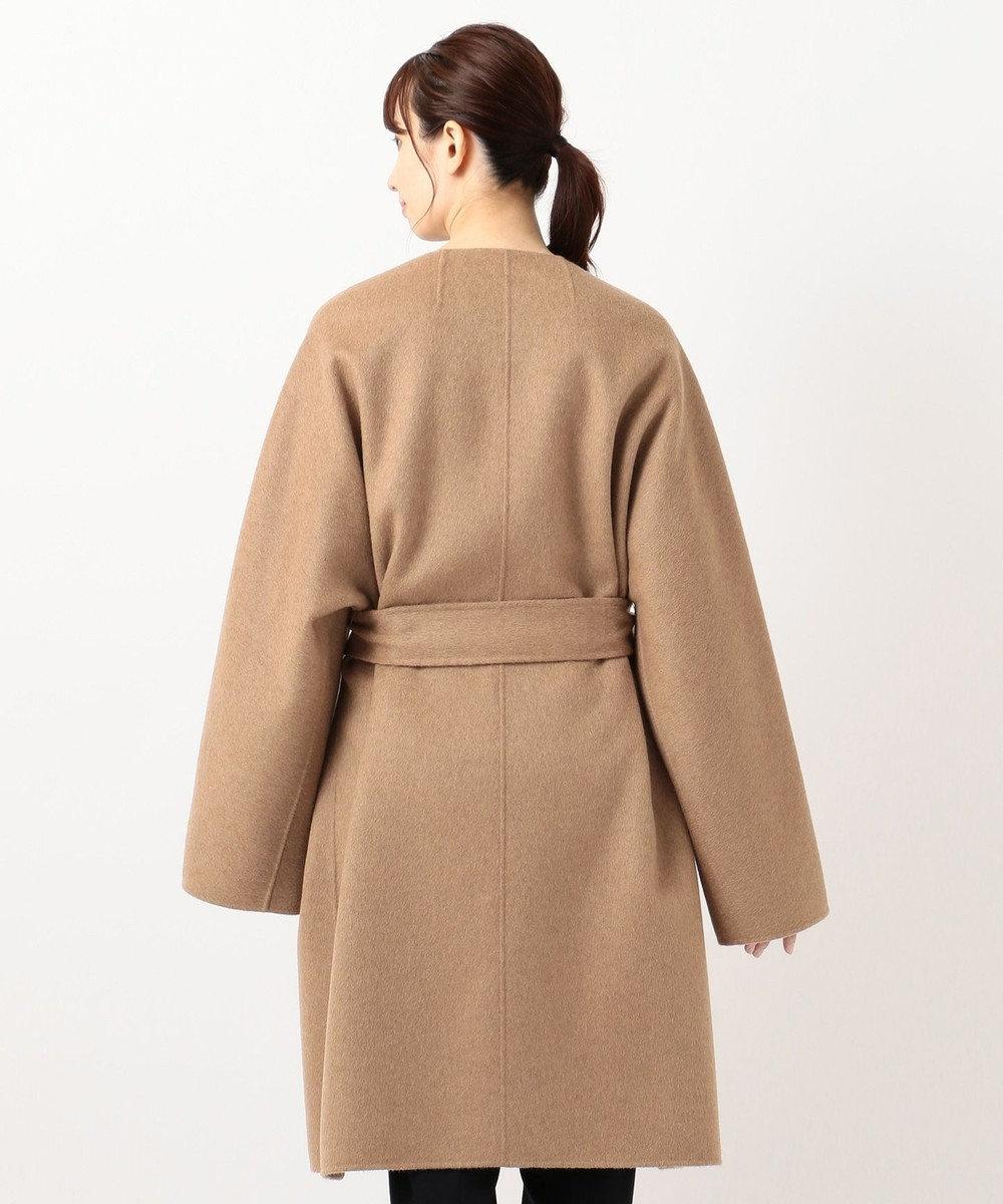 23区 S ウールアルパカリバー ミドル丈 コート キャメル系