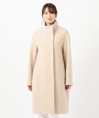 23区 【中村アンさん着用】ダブルクロスベロアスタンドカラー コート(番号L29) ライトベージュ系