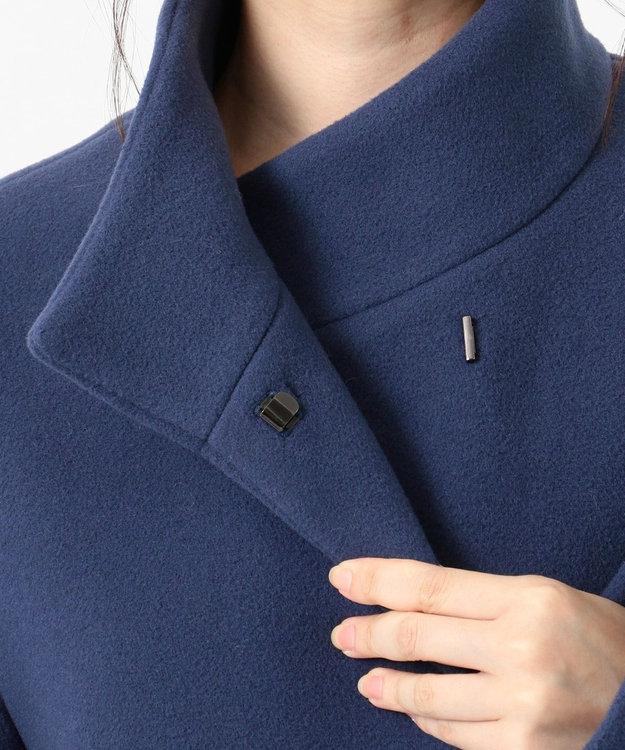 23区 【中村アンさん着用】ダブルクロスベロアスタンドカラー コート(番号L29)