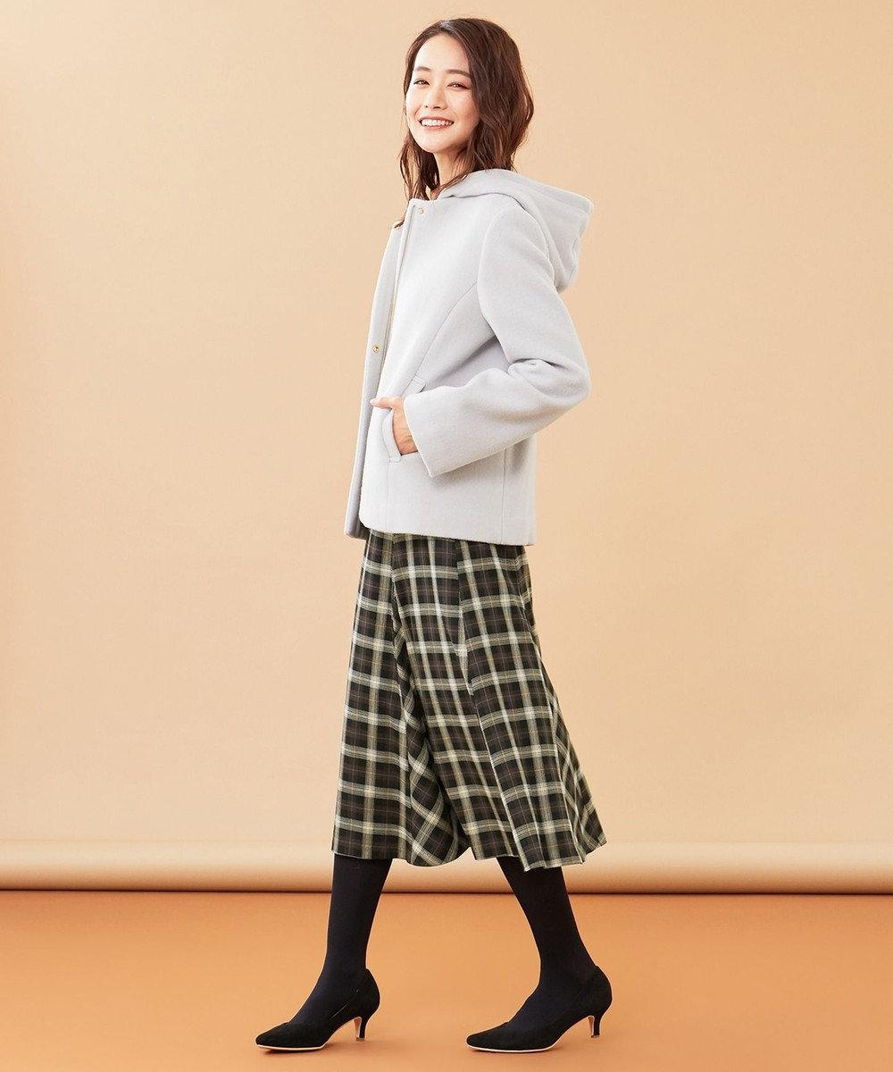 any SiS L 【美人百花1月号掲載】スーペリアファインウールモッサ ショート コート ライトグレー