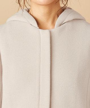 any SiS L 【美人百花1月号掲載】スーペリアファインウールモッサ ショート コート アイボリーベージュ