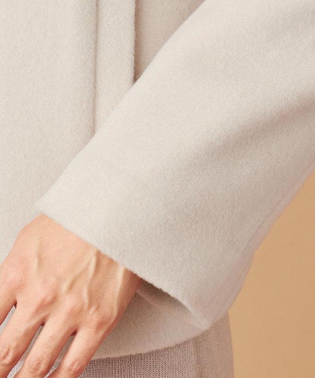 any SiS L 【美人百花1月号掲載】スーペリアファインウールモッサ ショート コート