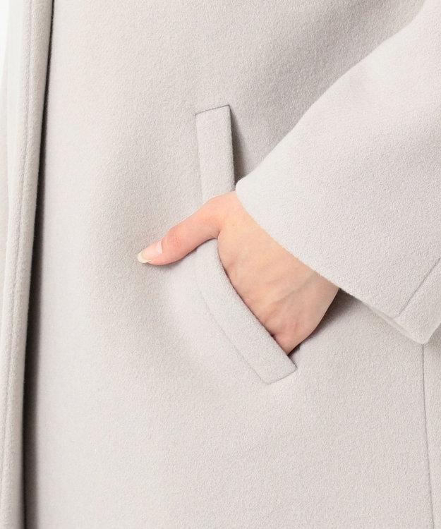 any SiS L 【MANTECO】カラーレスVネック コート